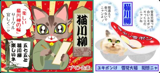 2連結猫川柳の輪マリモちゃん&ユキポンちゃん画像png-side.png