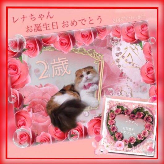 ツイッターシンさんから頂き物レナちゃんの2歳の誕生日カード2019-9-13.jpg