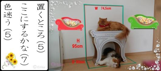 Seesaaブログ用ⒸErina猫川柳(置くところここにするかな色迷う)エポとレナ2019-6-30.jpg